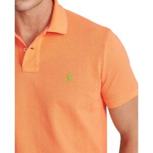 RALPH LAUREN Polo orange ajusté