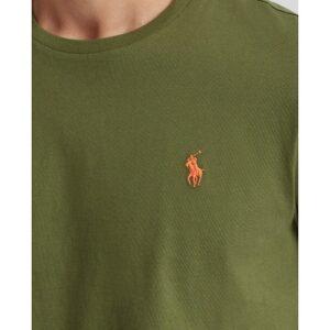 RALPH LAUREN T-Shirt kaki Col Rond Slim