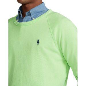 RALPH LAUREN Sweat vert coton éponge