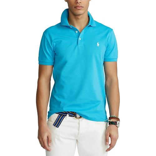 Polo slim fit RALPH LAUREN et stretch bleu turquoise t-shirt polo sweatshirt casquette ralph lauren boutique sport aventure à Orange