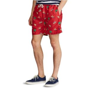 RALPH LAUREN Short Tropical red