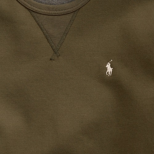 Sweat en maille Ralph Lauren coton olive vert kaki magasin sport aventure à Orange vetement et accessoires mode sport Ralp Lauren homme et femme