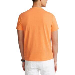 RALPH LAUREN T-Shirt orange Col Rond Slim