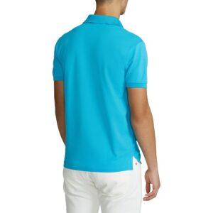 RALPH LAUREN Polo Slim turquoise et stretch