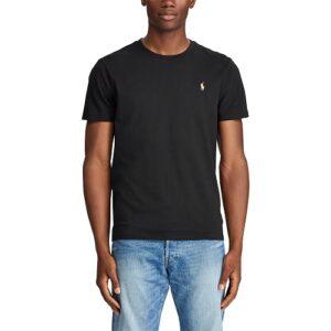 RALPH LAUREN T-Shirt noir Col Rond Slim
