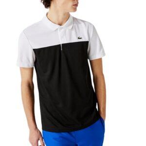 LACOSTE Polo Sport noir bicolore