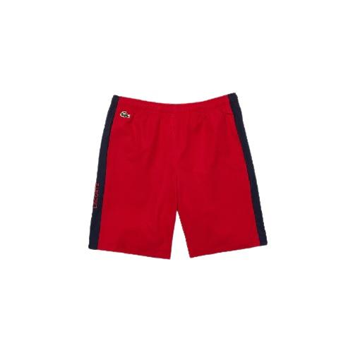 short Lacoste sport léger en taffetas lacoste short sport noir boutique sport aventure orange pantalons short polo t-shirt sport