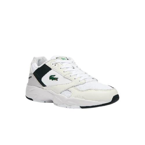 chaussures baskets Lacoste storm 96 blanc vert foncé sport et mode sneakers magasin sport aventure à Orange lacoste sport
