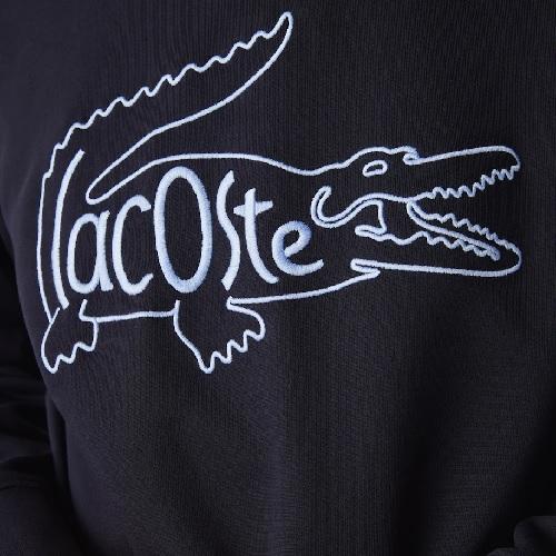 nouveau sweatshirt Lacoste brodé gros marquage Lacoste sport et mode sweat sport Lacoste homme marine
