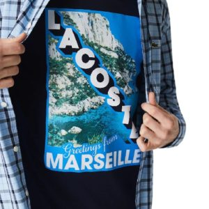 LACOSTE T-shirt calanques marine Marseille