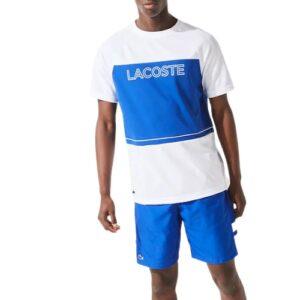 LACOSTE T-shirt Sport blanc en piqué respirant