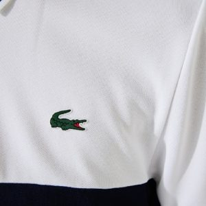 LACOSTE Polo ultra dry blanc sport