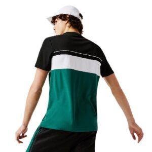 LACOSTE T-shirt sport noir color block