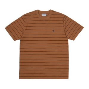 CARHARTT T-shirt Denton camel rayé