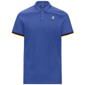 K-WAY Polo Vincent bleu finitions tricolores