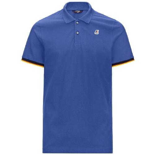 polo K-WAY uni bleu en coton magasin sport aventure Orange polo t-shirt K WAY en coton maille piquée