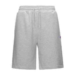 K-WAY Short coton gris homme