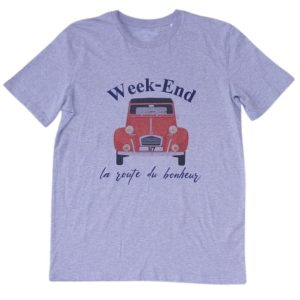BONMOMENT T-shirt Week-end heather coton bio
