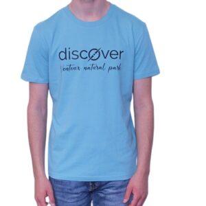 BONMOMENT T-shirt Discover teal coton bio