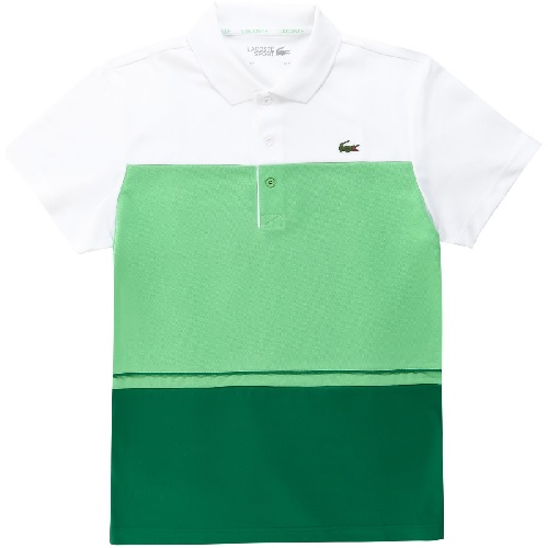 T-shirt LACOSTE SPORT color block vert tee-shirt lacoste sport boutique sport aventure Orange polo t-shirt tennis sport Lacoste
