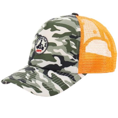 casquette Jott camouflage orange ajourée filet réglable sport aventure orange