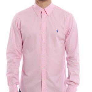 RALPH LAUREN Chemise pink en popeline