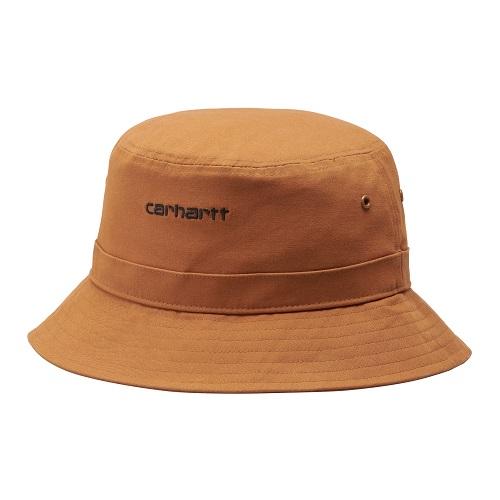 bob Carhartt wip script bucket hat rum camel bob carhartt coton camel sport aventure orange