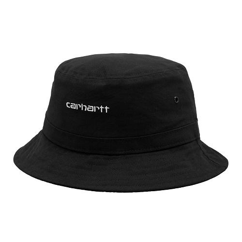 bob Carhartt wip script bucket hat black bob carhartt coton noir sport aventure orange