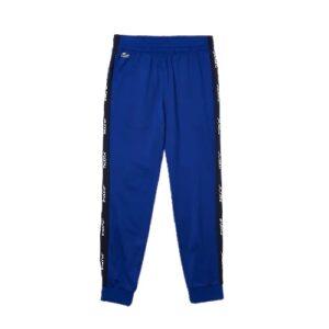 LACOSTE Pantalon jogging bleu à bandes latérales