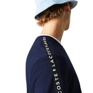 LACOSTE T-shirt bandes marine imprimées
