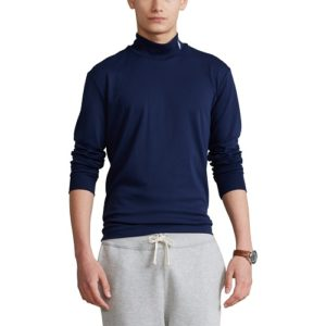 RALPH LAUREN T-shirt col navy manches longues
